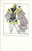 Wiener Werkstätte Postkarte Nr: 832 2 Masken Marie Likarz