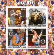 Benin 2003:  100f  AC / DC  Block  mit Sonderstempel