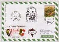 50. Sonder Ballonpost Neuhofen an der Ypps 25.10.96 j : OE-ZMR Pressel PSK UNO Pro Juventute
