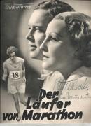1927: Der Läufer von Marathon ( E. A. Dupont ) Brigitte Helm ( mit Autogramm ) Hans Brausewetter ( Mit Autogramm ) Ursula Grabley, Paul Hartmann, Trude von Molo, Viktor de Kowa,