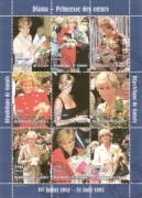 Republique de Guinee 1998:  Diana   ( mit Blumen )