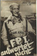 IFK: 528: F.P.I. antwortet nicht, Hans Albers, Sybille Schmitz, Paul Hartmann, Peter Lorre, Hermann Speelmanns, Erik Ode,