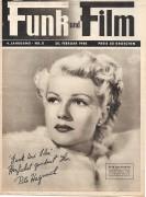 Funk und Film 1948/08: Rita Hayworth Cover, Rückseite: Christine Norden mit Berichten: Betty Lovery, Hermine Heller, Curd Jürgens, Ewald Balser,