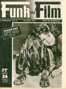 Funk und Film 1947/17: Robbin Bay Cover Rückseite: Joan Gordon und Carrol K. Lochner mit Berichten: Margaret O´Brien, Rudolf Prack, Curt Götz, Calcutta, Lilian Gish, Kino, Wenko Wenkoff,