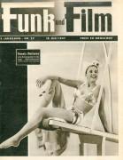 Funk und Film 1947/29: Pamela Matthews Cover Rückseite: Ditta Dunah mit Berichten: Ischl Franz Lehar, Fritz Lehmann, Fred Astaire, Nina Sandt, Bagdad, Karl Farkas, Susan Shaw, Flora Ringl,