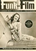 Funk und Film 1947/51: Patricia Roc Cover Rückseite: Regan Callais mit Berichten: Zigeuner Viviane Romance, Walter Weber, Mandschurei, Käthe Gold, Alfred Uhl,