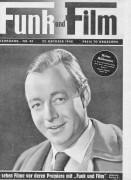Funk und Film 1948/43: Heinz Rühmann Cover Rückseite: Maria Schell mit Berichten: Belvedere, Big Ben, Südsee, Micheline Philippe, Autorennen,