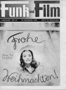 Funk und Film 1948/52: Patricia Neal Frohe Weihnachten Cover Rückseite: Laurence Olivier mit Berichten: Hedwig Bleibtreu, Alexander Gorski, Eroica, Johannes Heesters, Josef Schmidt,