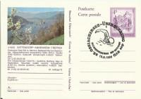 4.-- S. Ganzsache Landschaft 9520 Sattendorf Annenheim Treffen mit Sonderstempel Ossiachersee Schwimmen 13.8.1995