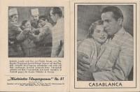 81: Casablanca, Humphrey Bogart, Ingrid Bergman, Conrad Veidt,