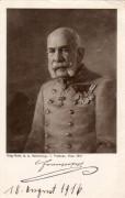 Kaiser Franz Josef ( 1848 - 1908 ) Kriegsfürsorge Karte Nr: 542