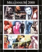 Türkmenistan 2000:  Kultstars  ( Monroe, Elvis, )  Block  **