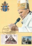 Papst Johannes Paul II,   Maximum Karte Nr: 03/87