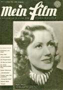 Mein Film 1947/01: Hertha Mayen Cover, Rückseite: Loretta Young mit Berichten: Frank Filip, Hilde Föda, James Stewart, Jean Artur,