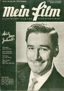 Mein Film 1947/30: Errol Flynn Cover, Rückseite: Alexis Smith mit Berichten: Jane Eyre, Filmkinder Margret O´Brien und Heiki Eis, Theo Lingen, Hörbiger, Hazel Court,