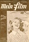 Mein Film 1947/38: Rita Hayworth Cover, Rückseite: John Mills mit Berichten: Hans Moser, Klaramaria Skala, Shirley Temple, Hildegard Knef, Winnie Markus,