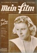 Mein Film 1947/39: Paula Wessely Cover, Rückseite: Lilian Harvey Franz Schubert mit Berichten: Kap Horn Allan Ladd, Hertha Mayen, Theodor Danegger, Meinrad, Aglaja Schmid, Salzburg, Razzia,