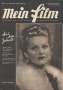 Mein Film 1947/26: Susanne Almassy Cover, Rückseite: Hazel Court mit Berichten: Mark Twain, Mickey Rooney, Bing Crosby, Fred Astaire, Fritz Koselka, Sally Gray,