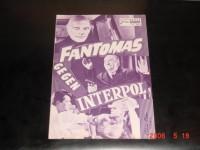 4219: Fantomas gegen Interpol (Andre Hunebelle) Louis de Funes,  Jean Marais, Mylene Demongeot, Jacques Dynam, Robert Dalban, Albert Dagnan, Christian Tomas