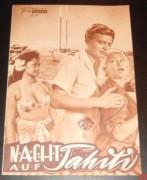 902: Nacht auf Tahiti (Ralph Habib) Martine Carol, Karlheinz Böhm, Roger Livesey, Serge Reggiani, Arletty, Reginald Lye, Maea Flohr