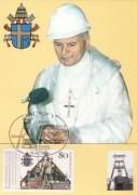 Papst Johannes Paul II,   Maximum Karte Nr: 05/87