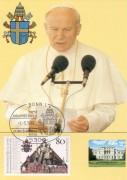 Papst Johannes Paul II,   Maximum Karte Nr: 10/87