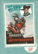 Das Paradies der Gesetzlosen Tim McCoy Der König der Prärie ( Western ) Bill Carson, Ben Corbett,