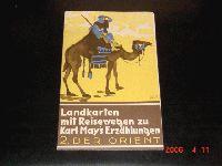 Landkarte mit Reisewegen von Karl May  2. Der Orient
