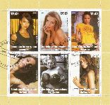Congo 2003:  Sexy Stars  Block mit Sonderstempel,