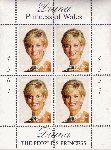 Diana Prinzessin von Wales,  Viererblock  Postfrisch **  1997
