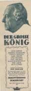 Der große König ( Veit Harlan ) Kristina Söderbaum, Otto Gebühr, Paul Wegener,  Werbung LV.