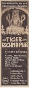 Der Tiger von Eschnapur ( Richard Eichberg )  La Jana, Kitty Jantzen, Gustav Diessl, Theo Lingen,  KV