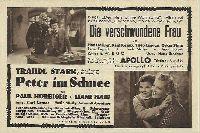 Die verschwundene Frau, Hans Moser, Peter im Schnee,