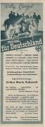...reitet für Deutschland, Willy Birgel, Gertrud Eysoldt  ( LV )