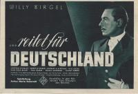 ...reitet für Deutschland, Willy Birgel, Gertrud Eysoldt ( BV )