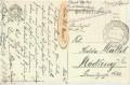 Feldpost 1. WK. K.u.K. Marinefeldpostamt Pola Kasernabteilung 1918  auf AK Schulverein Franz Schubert ( 72 )
