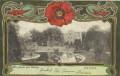 Böhmen: Gruß aus Göding 1905 Jugendstil Blumen Schmuck Karte Villa Redlich