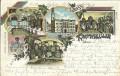 Gruss aus Zittau Litho 1900 Rathauskeller Weinfässer mit Bahnpost 1912 gelaufen