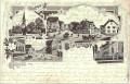 Deutschland: Gruß aus Bönstadt Litho 1902 Schule, Häuser Kirche usw..