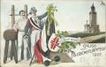 Deutschland: Gruss aus Feldberg / Hessen Litho 1907 Feldbergturnfest ( Studentica )