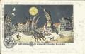 Deutschland: Gruss aus Halle 1905 Wirthshaus Juxkarte mit lachenden Mond Häuser