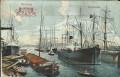 Deutschland: Gruß aus Hamburg 1911 Hafen, Schiffe Liporello !