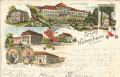 Deutschland: Gruss aus Hohenheim Litho 1900 Studentika Studenten, Herzog Karl.