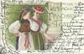 Deutschland: Gruß vom Stuttgarter Knabenhorte National Trachten Fest 1901 Ganzsache 5 Pfennig ( Correspondenz Tittel Komponist )