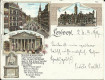 England: Gruß aus London Litho 1899 ( Litho kleines Vormat ! ) Cheapside