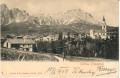 Italien: Gruß aus Cortina d´ Ampezzo 1903 Häuser, Kirche usw... nach Wien
