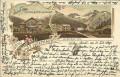 Italien: Gruß aus St. Gertraud im Suldenthal Tirol Litho 1898 Villa Flora