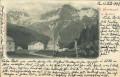 Italien: Gruß aus St. Gertraud in Sulden 1898 herrliches Panorama mit Kirche usw