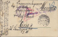 Kriegsgefangenpost Russland - Österreich Lager Petropawlowsk Zensur 1916 ( 14 )