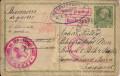 Kriegsgefangenpost Russland - Asien - Österreich 5 Heller Ganzsache Zensur 1915  ( 16 )